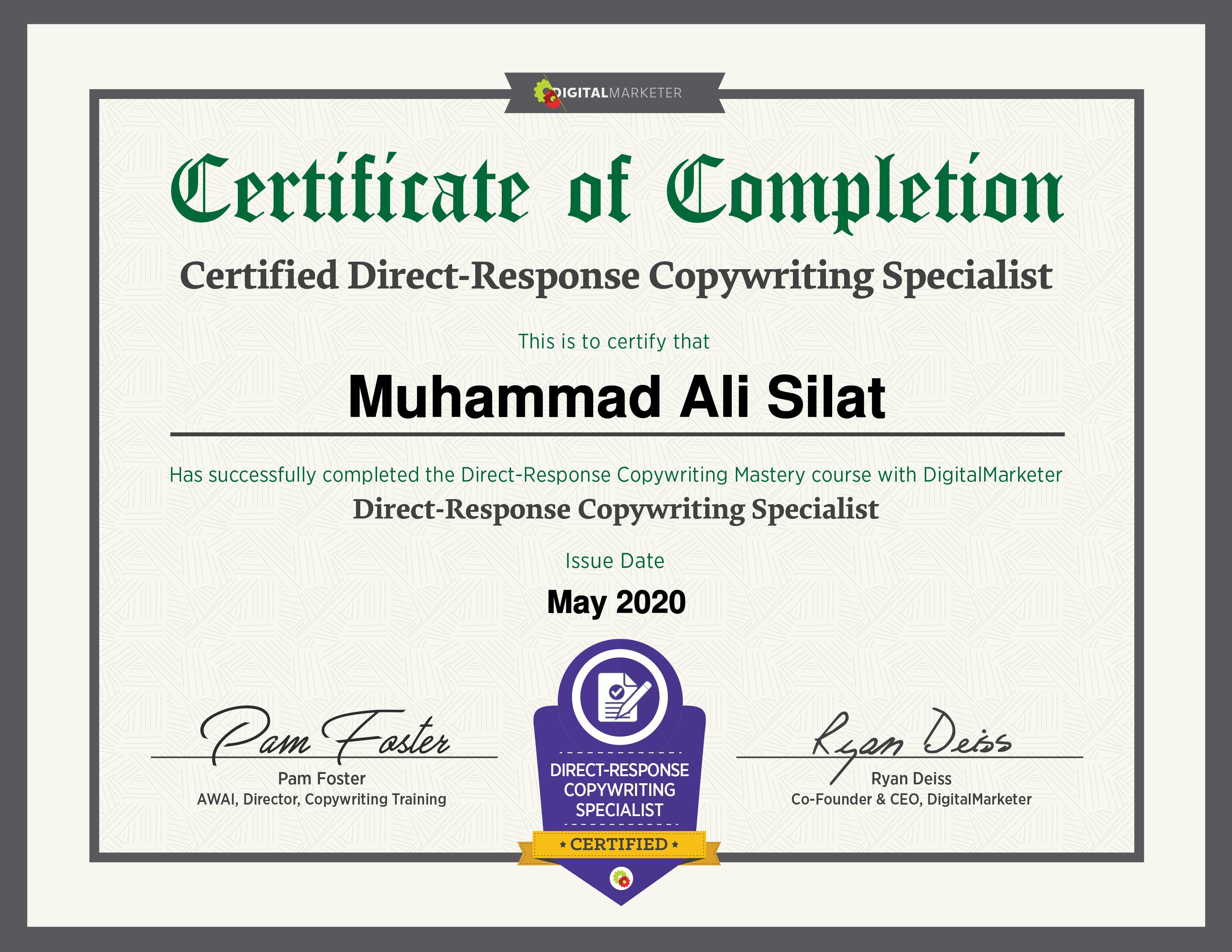 Copywriting Mastery Certificate