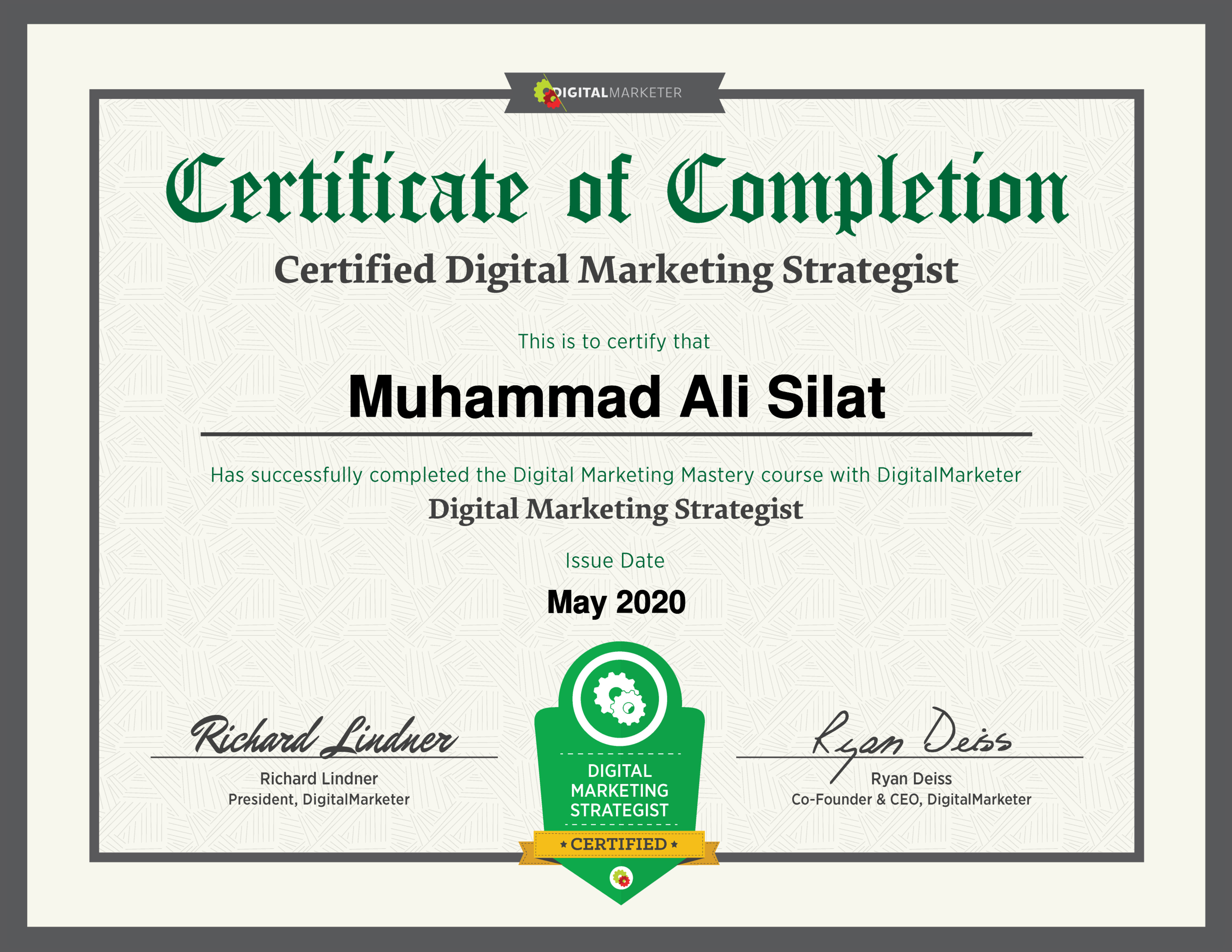 Digital Marketing Mastery Certificate